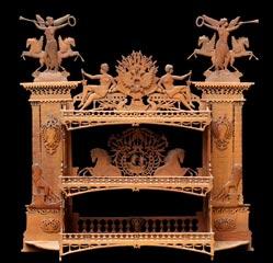 Pont alexandre 3 paris etag re en bois chantourn reperc cisel cette - Meuble japonais paris ...